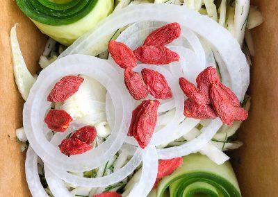Zucchini Roll Salad